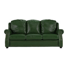 Modern Green Leather Sofas | Houzz