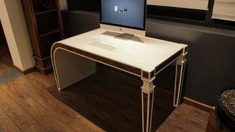 Bureau intéractif - Louis XVI design en Solid-Surface V-korr
