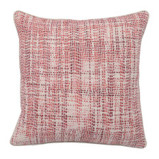 """Baxter Woven 22"""" Throw Pillow, Pink by Kosas Home"""