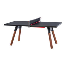 You and Me Ping Pong Table, Black, Small