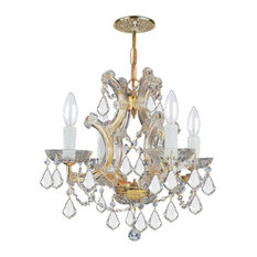 Crystorama Lighting Group 4474-CL-MWP Maria Theresa 4 Light - Gold