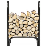 "Gibson Living 28"" Heavy Duty Firewood Shelter Log Rack for Fireplaces & Firepits"