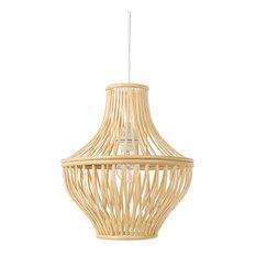 Bellona Bamboo Jar Pendant Lamp, Natural