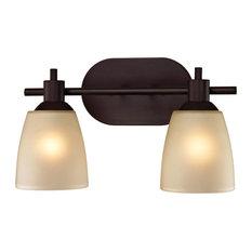Cornerstone Cornerstone Jackson 2 Light Bath Bar In Oil Rubbed Bronze Bathroom Vanity Lighting