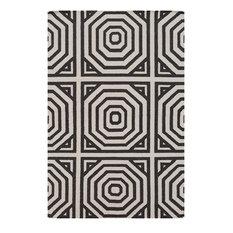 Surya - Contemporary Rivington Gray-Brown Area Rug, 8'x10' Rectangle - Area Rugs