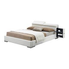 Manjot Bed With Built-In Nightstand, Queen