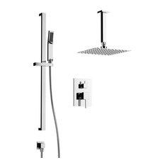 Trevor Shower Set, Two Functions, Polished Chrome