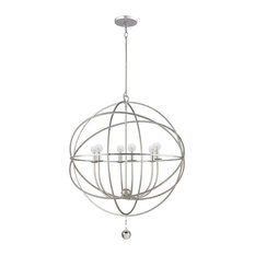 Crystorama Lighting Solaris 6 Light Silver Sphere Chandelier Ii Chandeliers