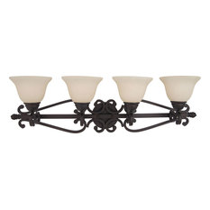 Maxim 12214FIOI 4-Light Bath Vanity Manor Oil Rubbed Bronze