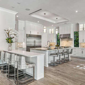 Boca Raton Waterfront Home | 6 Bed/7.2 Bath/12,000+ Sq Ft by Interiors by Brown