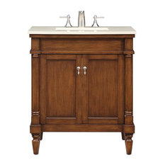 "30"" Single Bathroom Vanity Set, Brown by Elegant, Brown Finish"