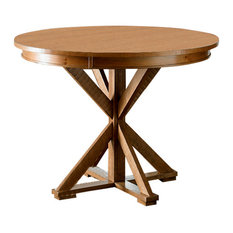 Willow Round Counter Height Table, Distressed Pine