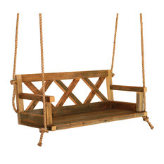 Farmhouse Porch Swing Made From Reclaimed Wood, Regular Reclaimed Wood