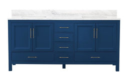 "Kendall Blue Bathroom Vanity, 72"", Vanity With Top"