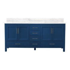 """Kendall Blue Bathroom Vanity, 72"""", Vanity"""