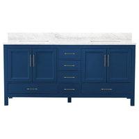 """Kendall Blue Bathroom Vanity, 72"""""""