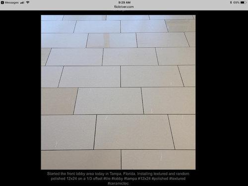 Large Tile 12 X 24 1 3 Offset