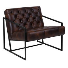 Charmant Flash Furniture   Hercules Madison Series Bomber Jacket Leather Tufted  Lounge Chair   Armchairs And Accent
