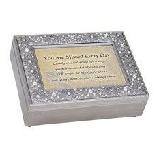 "Music Keepsake Box, ""Sadly Missed Hearts Always There"""