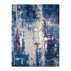 Nourison Twilight Grey and Blue Rug, 168x244 Cm