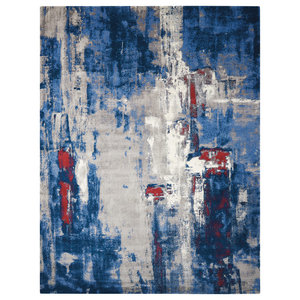 Nourison Twilight Grey and Blue Rug, 366x457 Cm