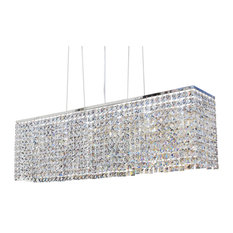 "Lightupmyhome 40"" Rectangular Dining Room Crystal Chandelier"
