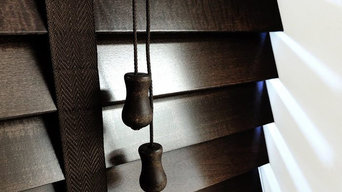 Next Day Dark Wenge Wood Venetian Blinds With Tapes