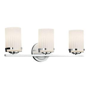 Justice Design Group FSN-8453-10-RBON Fusion Vanity Light Bathroom Fixture