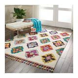 Nomad Nourison NMD06 Ivory Multi Rectangle Traditional Rug 119x183cm