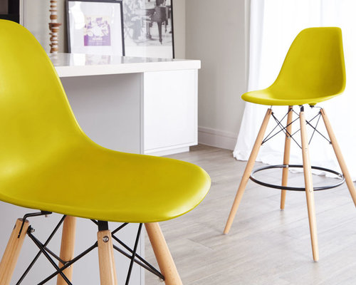 mustard yellow eames style bar stool bar stools and counter stools