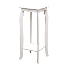 Megahome   Phone Table, White   Plant Stands And Telephone Tables