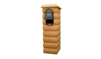 Natural Pine Mail Column