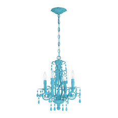 Englewood 4 Light Mini Chandelier in Turquoise