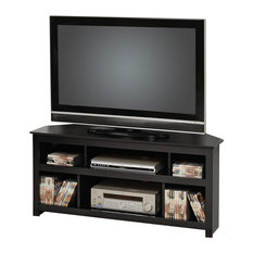 Prepac Furniture   Prepac Vasari Flat Panel Plasma / LCD Corner TV Stand In  Black