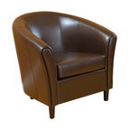 Newport Brown Leather Club Chair