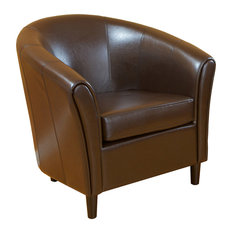gdfstudio newport club chair brown armchairs and accent chairs