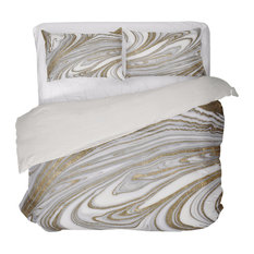 """Oliver Gal Home """"Glam Nights"""" Queen Duvet Collection"""
