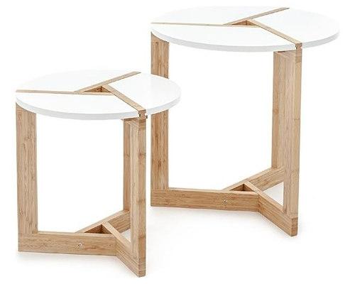 SHUTTER WHITE OAK TABLE SET   Coffee Table Sets