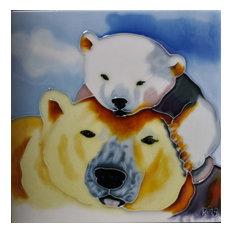 Mom and Baby Polar Bear Tile