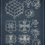 Keep Calm Collection - Rubik's Cube Patent Art Print - High quality print on durable paper. Size: 12 x 18 inches. Printed in the USA and suitable for framing.