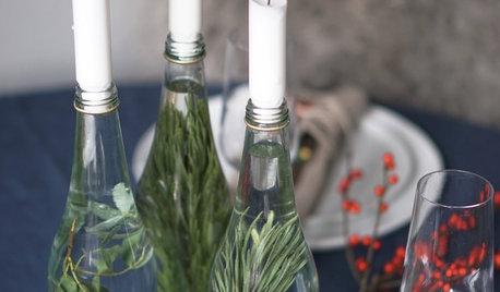3 weihnachtliche Tischdeko-DIYs mit Ästen, Zweigen und Beeren