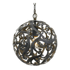 "Elight Design Coastal 12"" Wide Farmhouse Bronze Pendant"