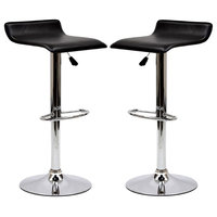 Gloria Bar Stool Set of 2, Black