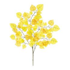 """Aspen Leaf Branch, 24"""", Gold"""