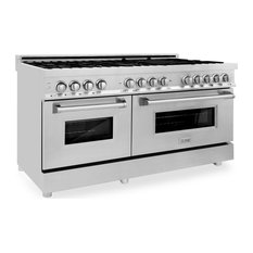 """ZLINE Range with Gas Stove and Electric Oven in Stainless Steel, 60"""""""