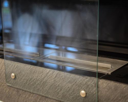 Облицовка биокамина закаленным стеклом - Камины