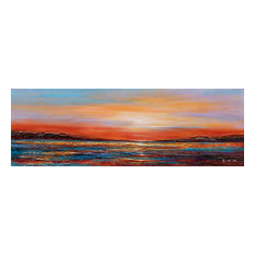 """""""Sunset Dreams II"""" Hand Painted Canvas Art, 60""""x20"""""""