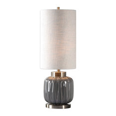 Uttermost Zahlia Aged Gray Ceramic Lamp