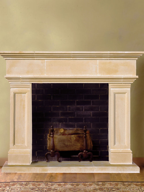 Hampton Cast Stone Fireplace Mantel Indoor Fireplaces