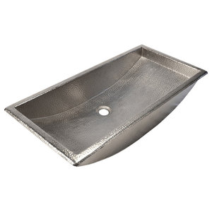 """Native Trails CPS500 Copper 30"""" Trough Style Bathroom Sink for Drop In or Under"""